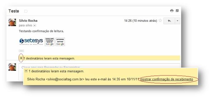 Como Confirmar A Leitura De Um Email Setesys Google