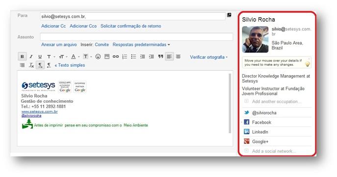 Rapportive: Extensão Gmail