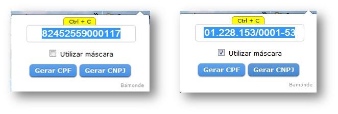 Criando números de CNPJ