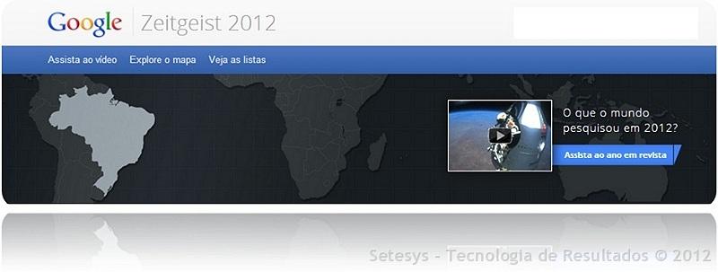 Zeitgeist é um resumo com os principais fatos e consultas releventes ao Google no ano de 2012
