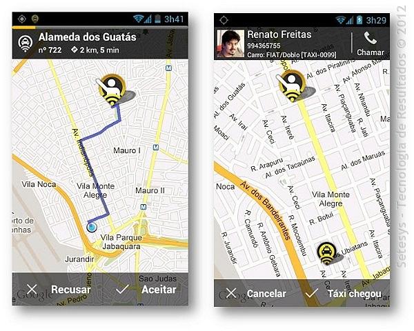 Análise do aplicativo para agendamento de corridas de Táxi por Smartphone 99Taxis