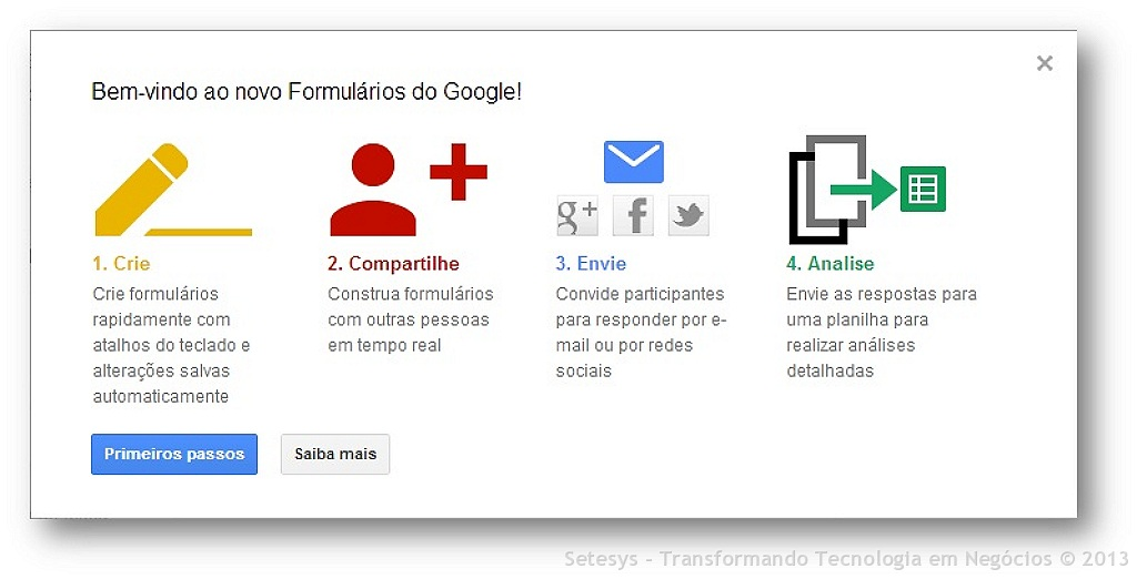 O que mudou na nova interface dos Formulários do  Google Forms