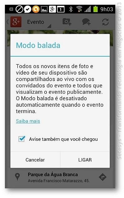 O Modo Balada ou Party Mode é um recurso muito útil para publicação de Vídeos e Imagens no seu Perfil do Google+.