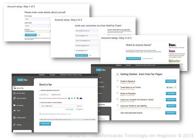 Envie Fax gratuitamente para qualquer local do Planeta através do programa Hellofax