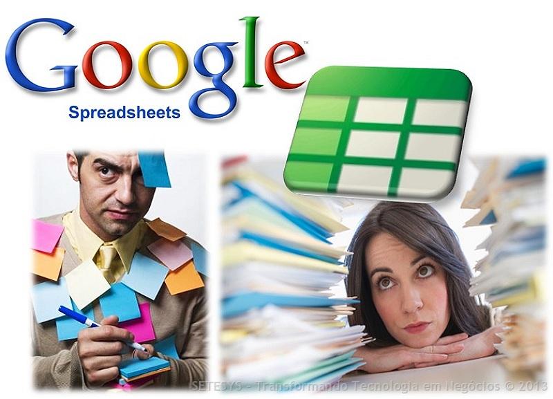 Como criar controles para auxiliar na administração do tempo através da utilização de planilhas do  Google Spreadsheet.