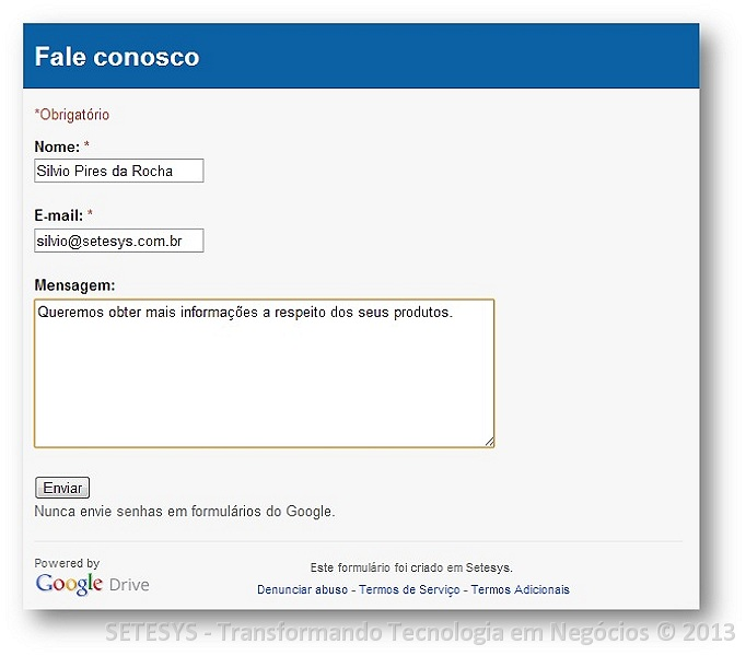 Tutorial sobre Regra de Notificação do Google Forms