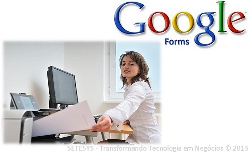 Tutorial sobre impressão no Google Forms