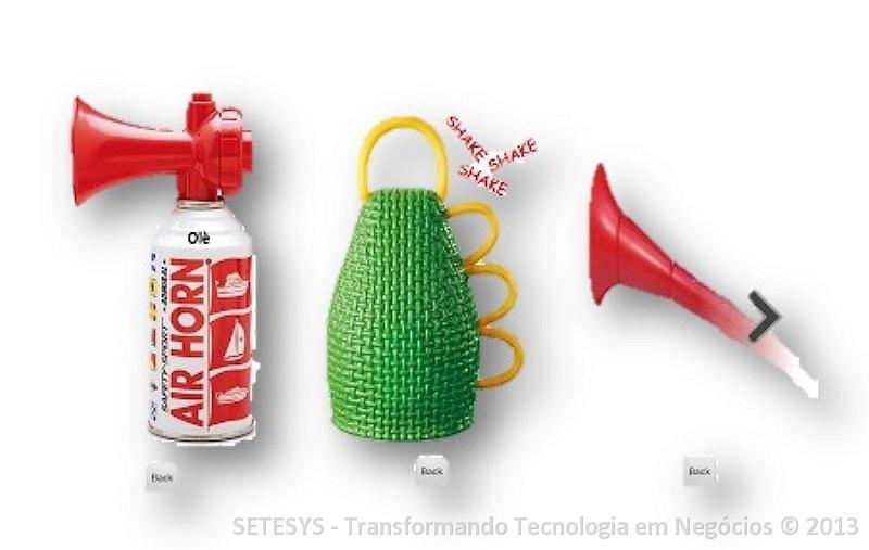 Caxirolas, Vuvuzelas e Cornetas pneumáticas para seu Android