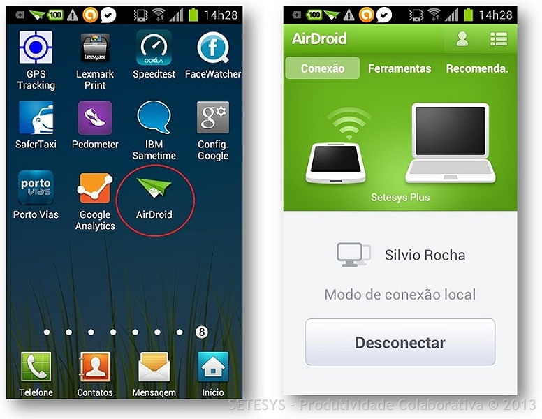 AIRDROID para Smartphone Android