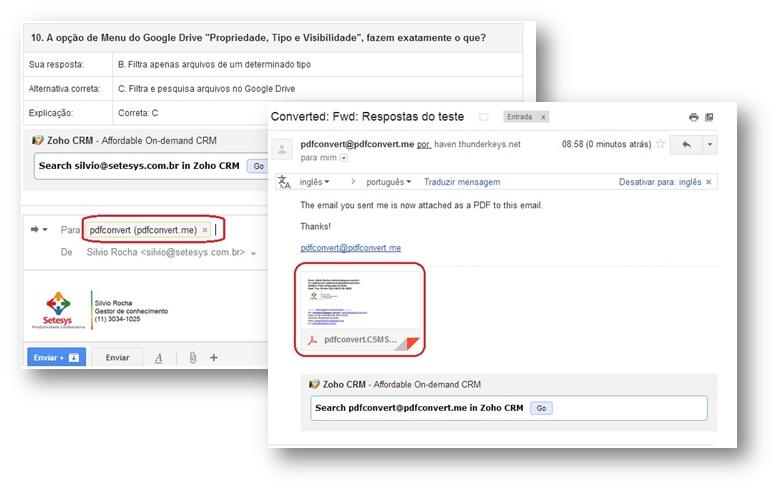 Converta e-mails para PDF em qualquer dispositivo