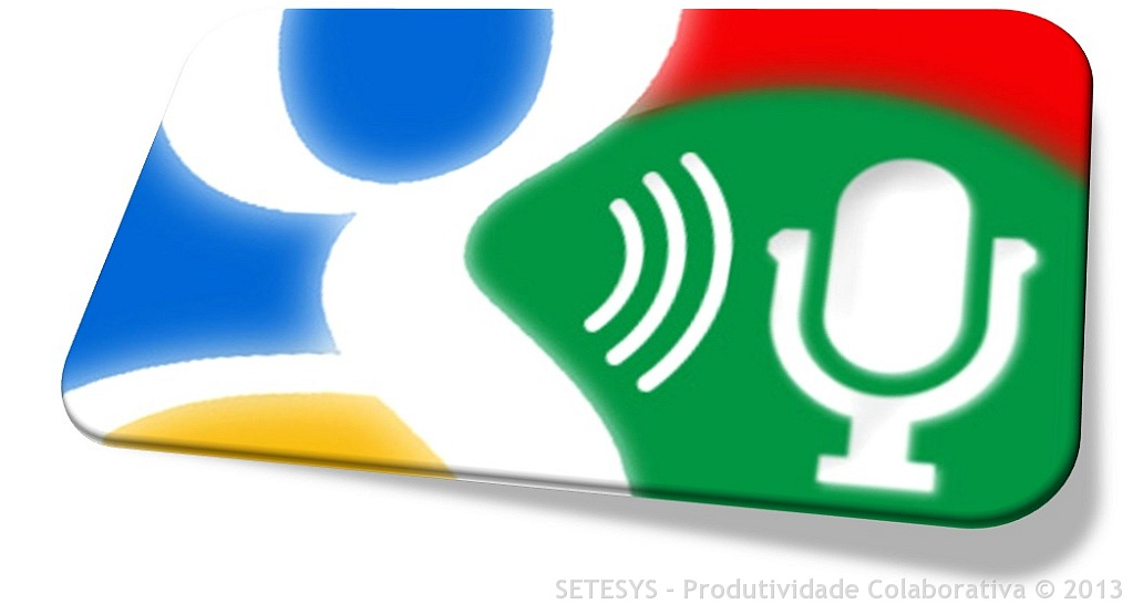 Extensão Google Voice Search Extension usada para pesquisa por voz