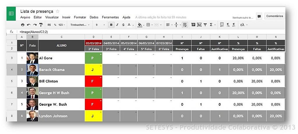 Como criar Lista de presença utilizando Planilhas do Google Apps