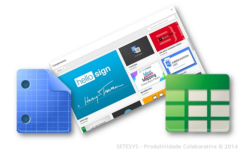 Tutorial Como ativar Complementos no Google Docs e Google Spreadsheet